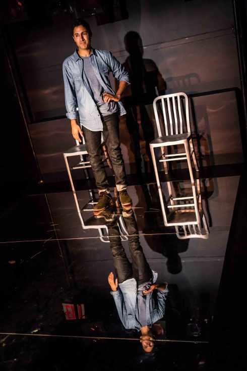 Maulik Pancholy in Ken Urban's THE AWAKE at 59E59 Theaters.  Photo by Kevin Thomas Garcia