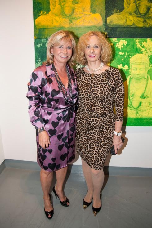 Sharon Bush & Hedy Klineman at Opening Reception of Buddhas in the Garden