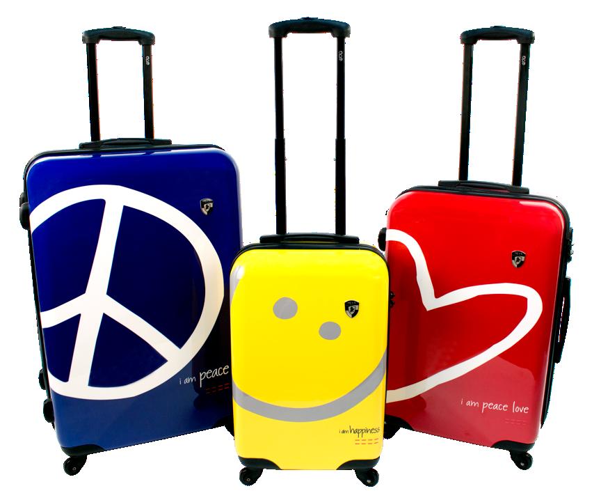 Peace Love World Lug E Tags